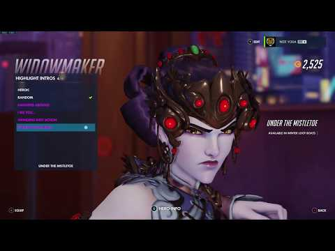 Widowmaker Black Lilly Skin Preview With Golden Buy