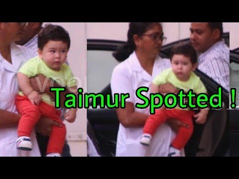 Kareena's baby Taimur Ali Khan spotted recently with Nanny ❤Looks Cute