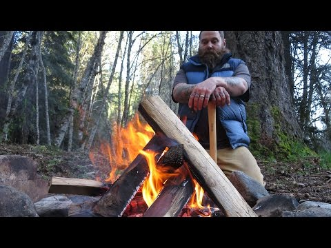 How to start a fire in a pit without lighter fluid