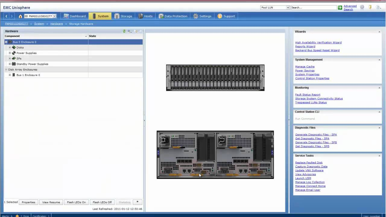 EMC VNX - Hardware Overview in Unisphere
