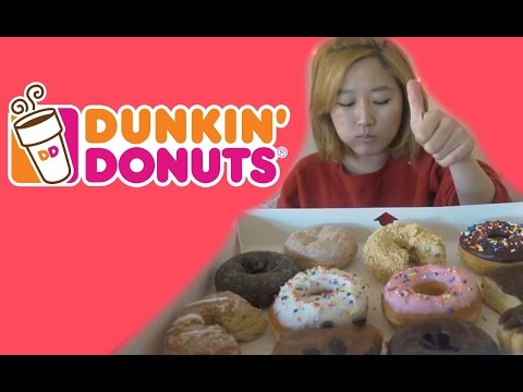 Dunkin Donuts Tasting!! [mukbang/eating channel]