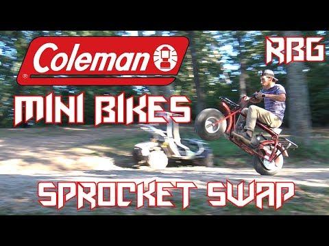 Coleman CT200U / CT200U-EX Mini Bike Sprocket Change ~ Mini Bike Monday