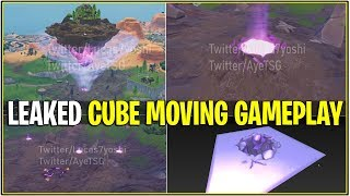 *NEW* Fortnite: LEAKED GAMEPLAY OF LOOT LAKE ISLANDS PATH! | (CUBE POWERED BY RUNES!)