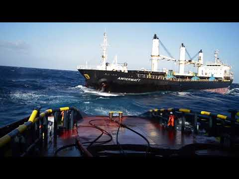 Salvage of vessel by ALP tug