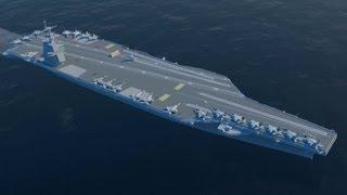 Newport News Shipbuilding - Gerald R. Ford (cvn-78) Nuclear Aircraft Carrier 3d Modeling [1080p]