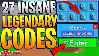 27 ROBLOX MINING SIMULATOR LEGENDARY CODES! *INSANE ITEMS!*