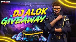 DJ ALOK And 10000 Diamonds  Giveaway Garena Free Fire