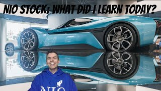 NIO stock; What did I learn today?