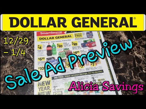 12/29 - 1/4 Sale Ad Preview // Dollar General Early Sale Ad Preview