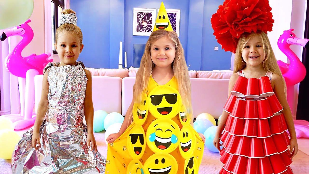 ダイアナ、お誕生日パーティ用に新しいドレスを作る