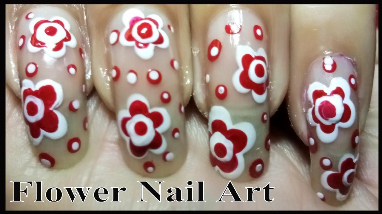 Easy Nail Designs - Best FLOWER NAIL ART Tutorial Using Dotting Tool ...