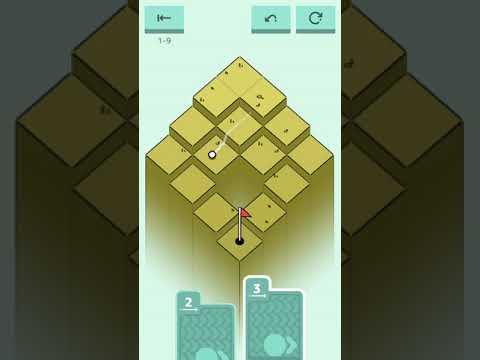 Golf Peaks. iOS Gameplay. World 1. Levels 1 - 12. Walkthrough.