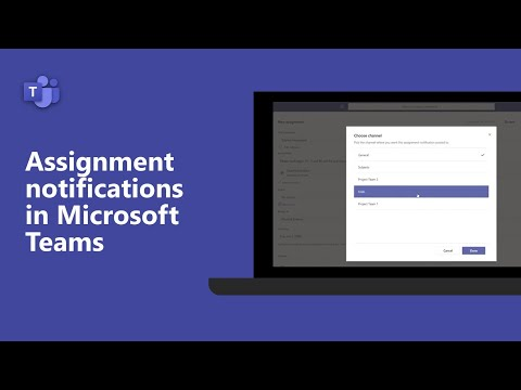 How to set assignment notifications for students to appear in a specific channel in Microsoft Teams!
