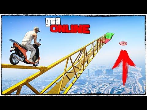 СЛОЖНЕЙШЕЕ ИСПЫТАНИЕ НА СУМАСШЕДШЕМ СКУТЕРЕ! ГТА 5 (GTA 5 online гонки, приколы, смешные моменты)