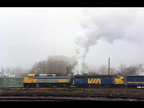 Steam heated passenger trains in Atlantic Canada 1991 - 1993