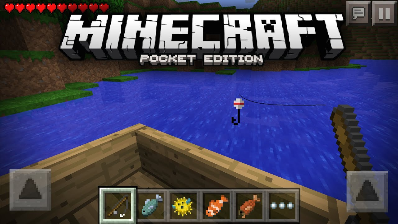 Going fishing in minecraft pocket edition mcpe concept for How to fish in minecraft pe