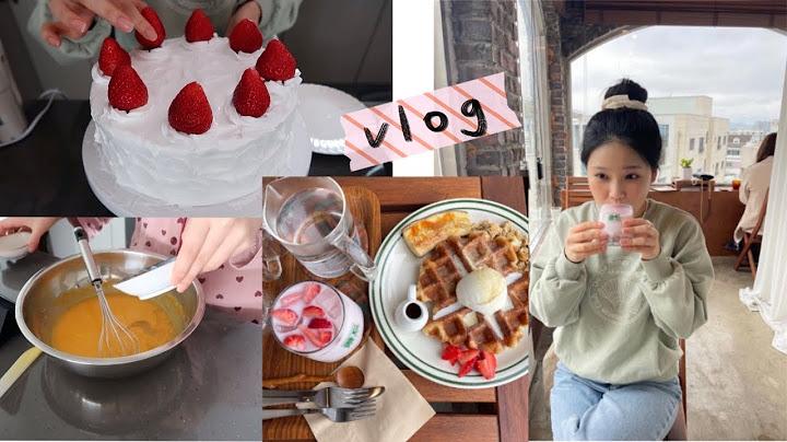 집에서 케이크 만들기, 택배 언박싱 하고, 떡볶이 뿌링클 먹고, 고양이랑 놀기, 산책, 대구 앞산 카페, 소품샵 가는 일상 브이로그 VLOG