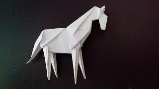 Лошадь оригами, horse origami