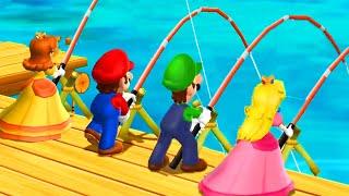 Mario Party 9 - Minigames (Master Difficulty) - Mario vs Luigi vs Daisy vs Peach