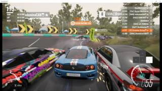 Forza Horizon 3 PC - Online Adventure & Rivals Gameplay + Keyboard overlay test