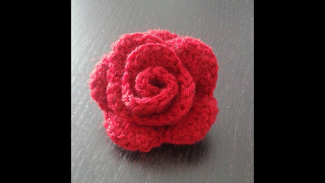 la rose au crochet rose flower with crochet rosa al crochet