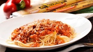 Espagueti a la boloñesa - Bolognese Spaghetti Recipe