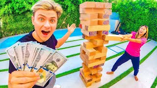 WORLDS BIGGEST JENGA!! (WINNER GETS $10,000)