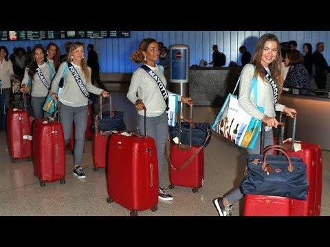 Miss France 2018 Contestants Arrive In Los Angeles