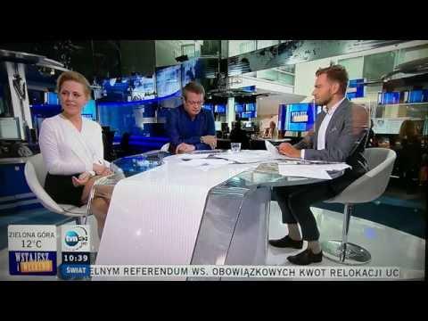 Śmiech prezenterki na wizji - TVN24 - zabawki   1.10.2016