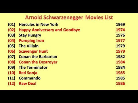 Arnold Schwarzenegger Movies List