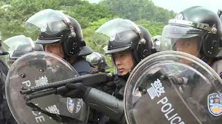 Police and armed police forces held a joint training in Shenzhen