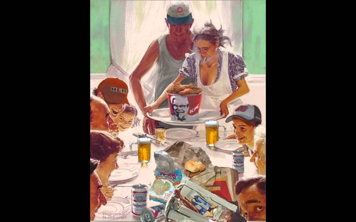 art spoofs rockwell s thanksgiving revisited youtube