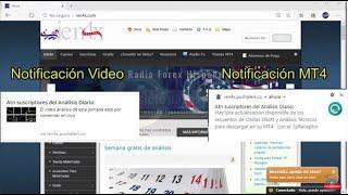 Conexión y notificaciones al servicio de análisis