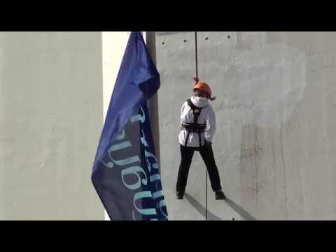 Abseiling down Spinnaker Tower for SFP