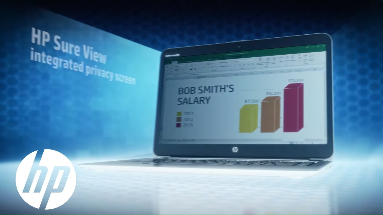 World's Only Integrated PC Privacy Screen: Technology Demo   HP Elite Sure  View   HP