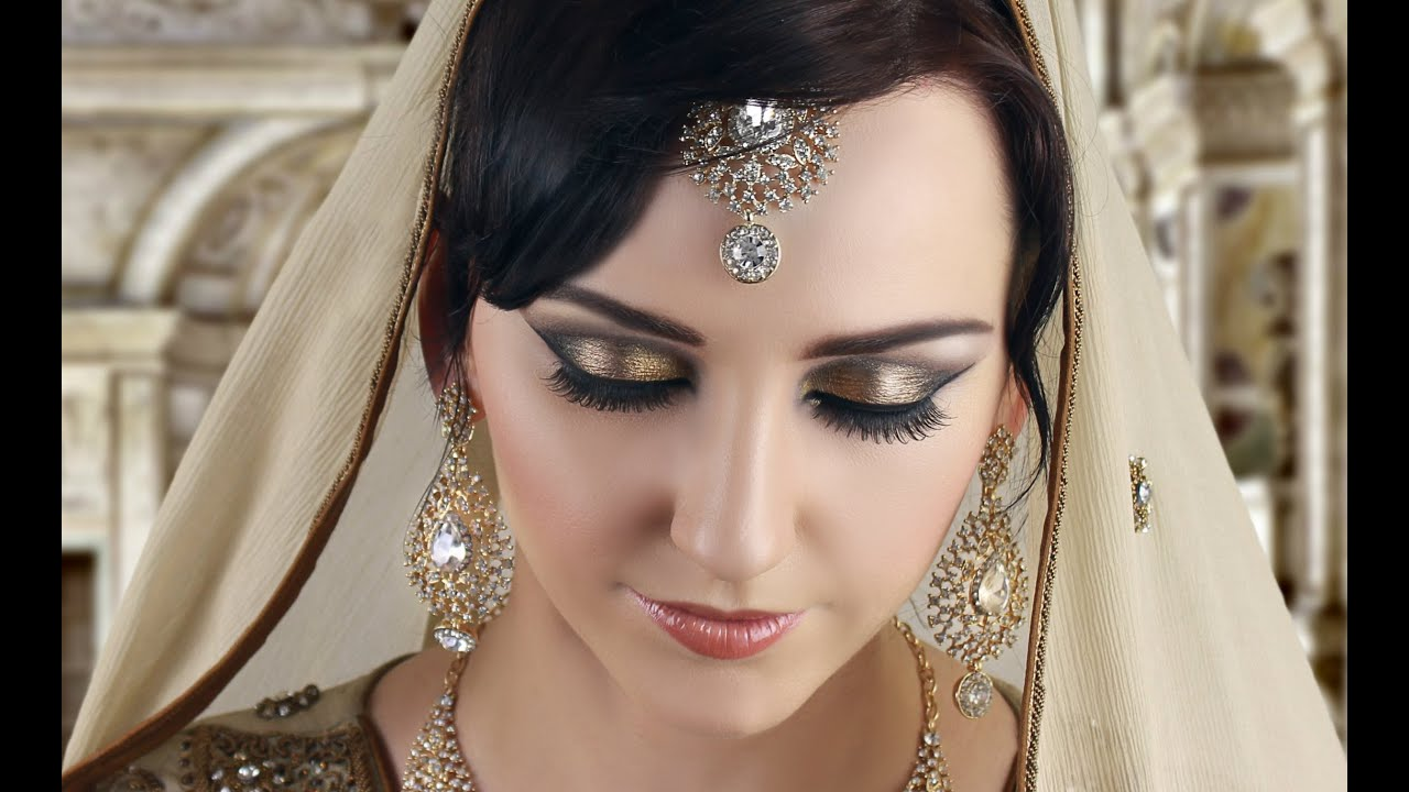 pakistani bridal makeup and hairstyle tutorial in urdu 2016 by