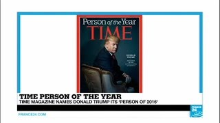 """US - TIME magazine names Donald Trump """"Person of 2016"""""""