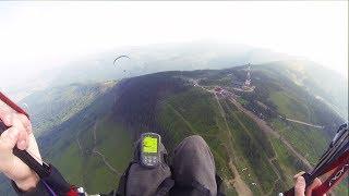 Widokowy lot paralotnią w górach – Bielsko-Biała video