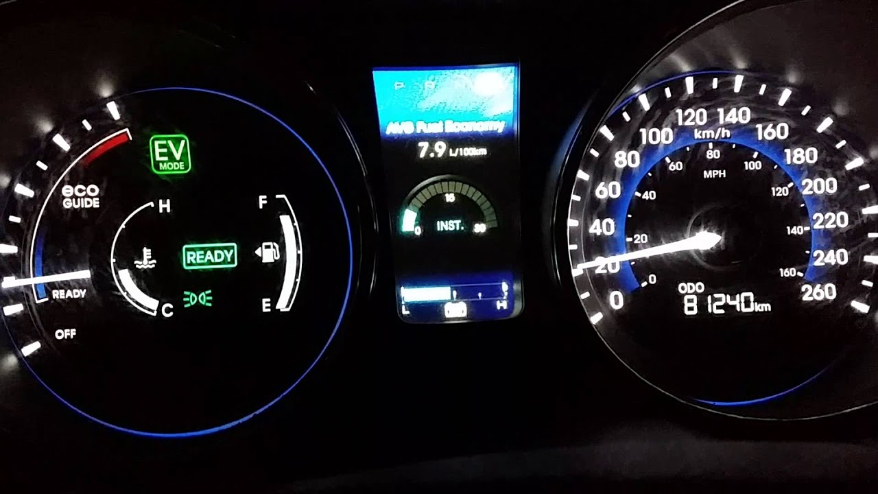 Hyundai Sonata 2017 Hybrid Oil Light Turning On