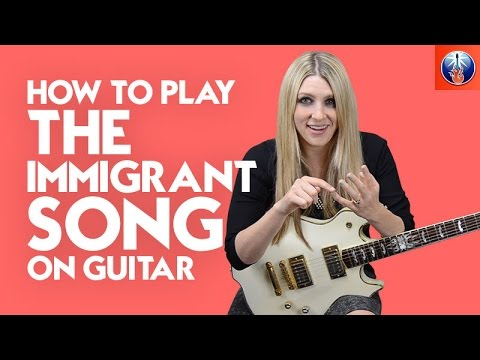 How to Play the Immigrant Song on Guitar - Led Zeppelin Song Lesson