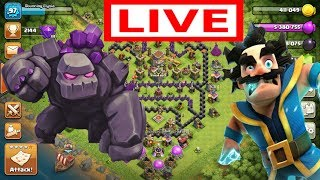 Playing Clash Of Clans, Completing Golem Event & Base Reviews | Clash With Stunning Elysia | #2