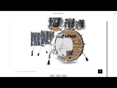 Sonor SQ² Drum System 3D Configurator walkthrough