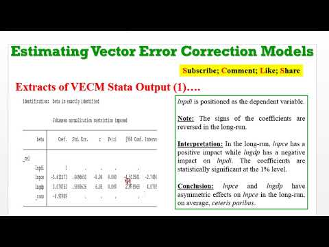 (Stata13): VECM Estimation, Discussion And Diagnostics #var #vecm #causality #granger #wald