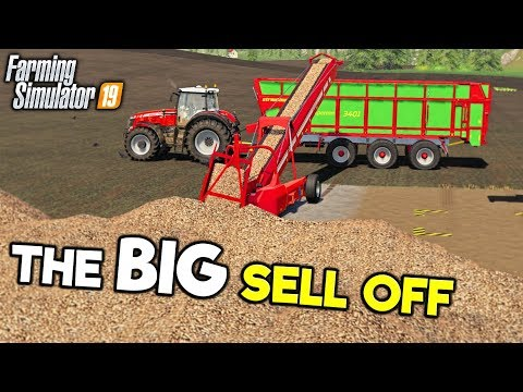 THE BIG SELL OFF - Let's Play Farming Simulator 19   Episode 60 thumbnail