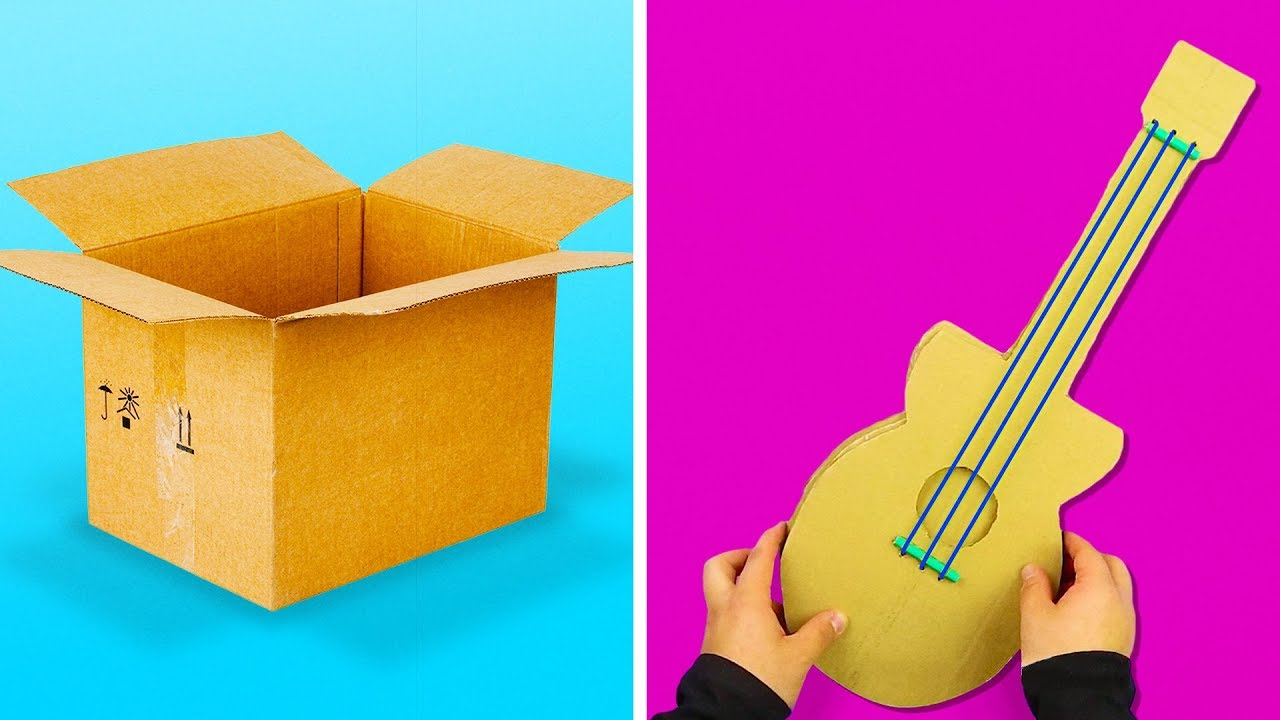 13 Fun And Simple Crafts You Can Make With Cardboard Youtube