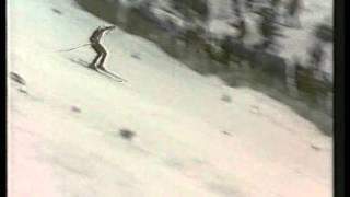 Abfahrt- Kitzbühel 1977 -  dritter Klammer Sieg in Folge