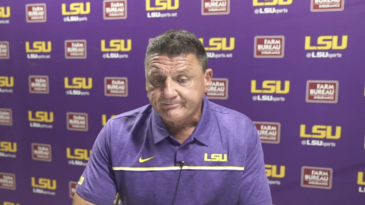 Full Ed Orgeron Press Conference Following The Embarrassing Loss To Missouri Youtube