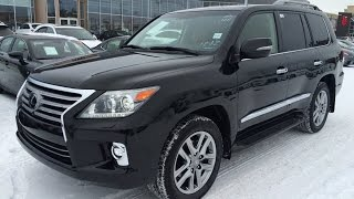 New Black on Saddle Tan 2015 Lexus LX 570 4WD Executive Package Review - Southwest Edmonton