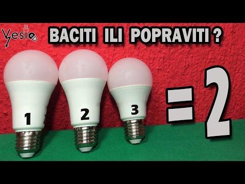 Kako popraviti LED sijalice ( od dve napraviti jednu ispravnu )