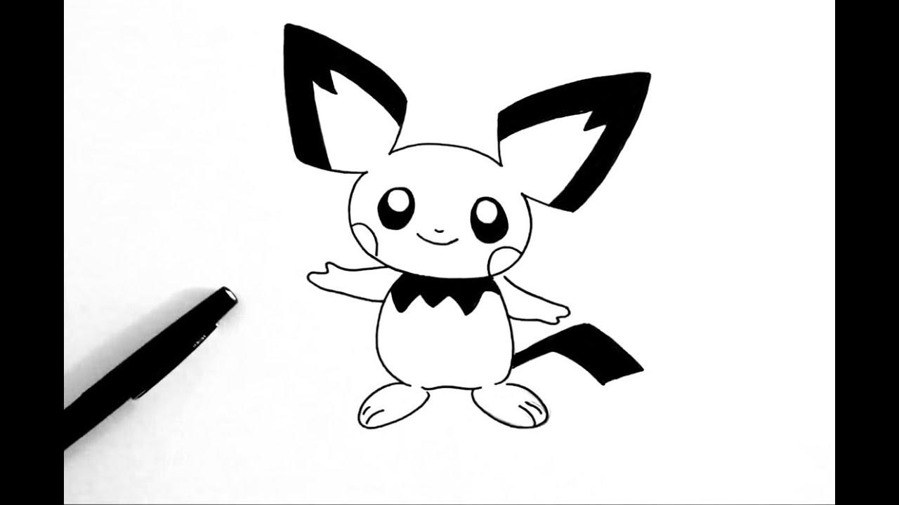 Comment Dessiner Pichu Pokémon Youtube
